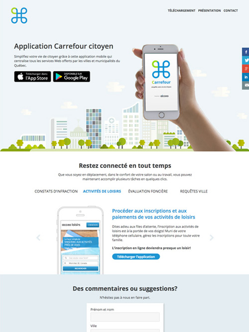 site d'application